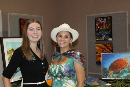 Exposição de pinturas no Fairchild Tropical Garden....