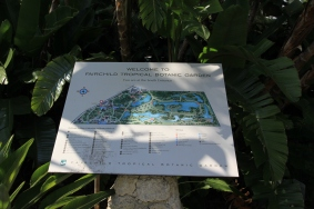 Mapa do Fairchild Tropical Garden....