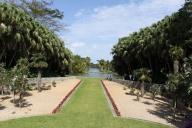 Um dos incríveis espaços... muitas pessoas fazem piquenique no Fairchild Tropical Garden....