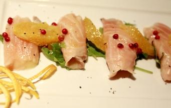 Carpaccio de salmão....