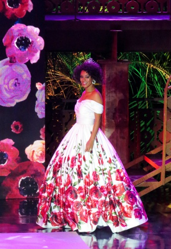 Desfile de Raissa Santana - Miss Brasil 2016 antes de coroar a nova Miss Brasil